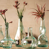 Recycled Glass Bottle Bud Vases