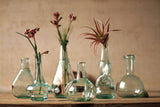 Recycled Glass Bottle Bud Vases - Set of 6