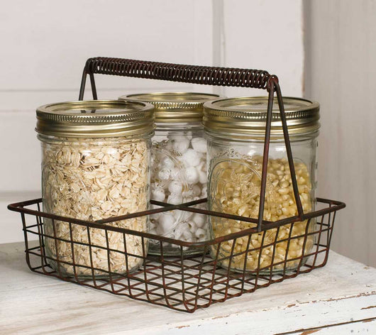Rustic Wire Mason Jar Caddy