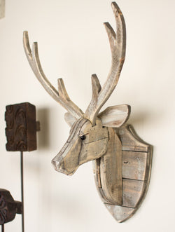 Reclaimed Wood Deer Head