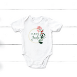 Floral Baby Name Onesie - Happyism, Inc. Engraving