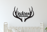 Custom Antlers Name Wood Sign - Live Preview - Happyism, Inc. Engraving