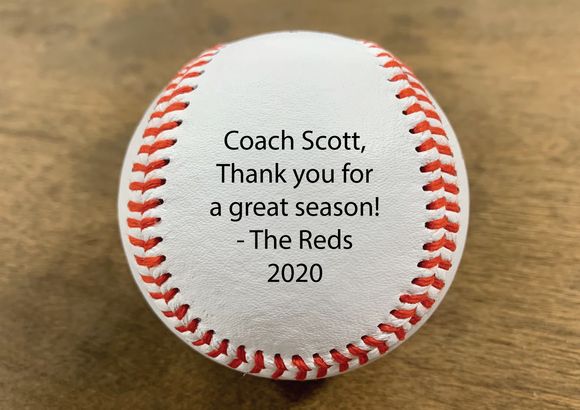 Custom Engraved Baseball - Interactive Preview - Happyism, Inc.