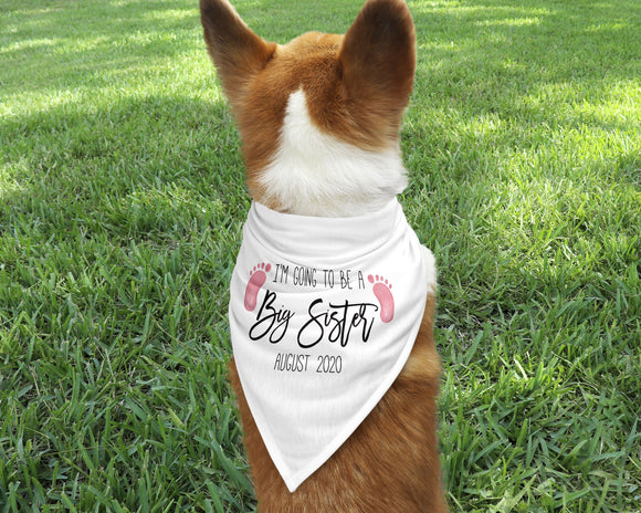 Big Sister Dog Bandana - Happyism, Inc. Engraving