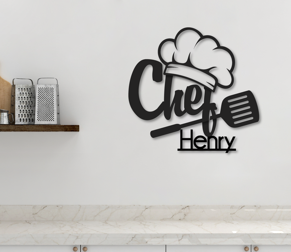 Kitchen Chef Sign - Happyism, Inc.