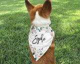 Custom Dog Bandana - Floral - Happyism, Inc. Engraving