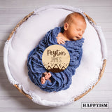 Engraved Wood Newborn Name Sign - Name