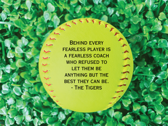 Custom Engraved Softball - Interactive Preview - Happyism, Inc.