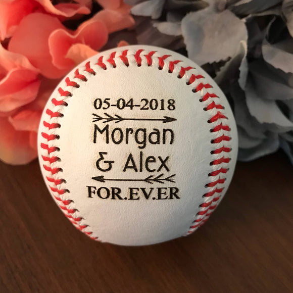 Custom Engraved Baseball - Interactive Preview - Happyism, Inc. Engraving