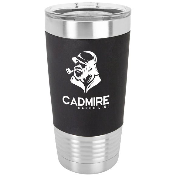 Custom Engraved Stainless Steel 20 oz Tumbler - Black Silicone wrap - Happyism, Inc.
