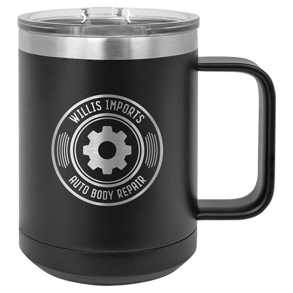Custom Engraved Stainless Steel 15 oz Polar camel coffee mug - Live Preview - Happyism, Inc. Engraving