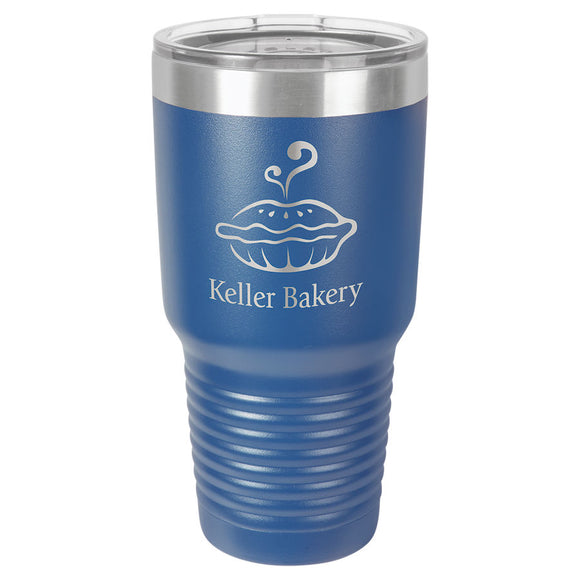 Custom Engraved Stainless Steel 30 oz Tumbler - Royal Blue - Happyism, Inc. Engraving