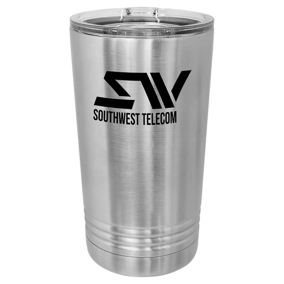 Custom Engraved Stainless Steel 16 oz Pint tumbler - Stainless Steel - Happyism, Inc.