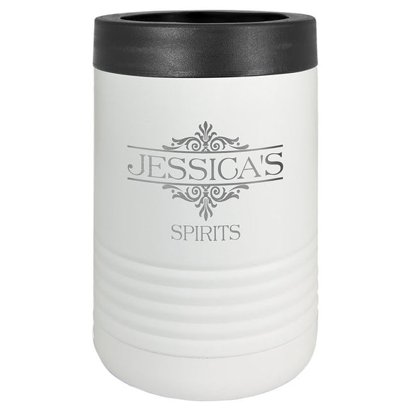 Custom Engraved Stainless Steel Beverage Holder - White - Happyism, Inc.