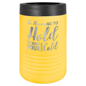 Custom Engraved Stainless Steel Beverage Holder - Yellow - Happyism, Inc. Engraving