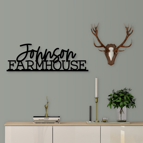 Family Name Farmhouse Sign - Happyism, Inc.
