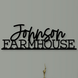 Family Name Farmhouse Sign - Happyism, Inc. Engraving