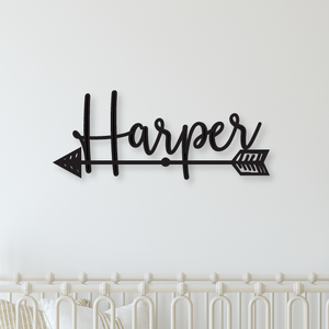 Name Sign with Arrow - Happyism, Inc. Engraving