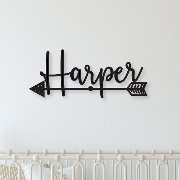 Name Sign with Arrow - Happyism, Inc.