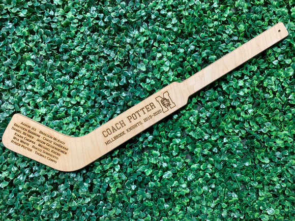 Engraved Coach Hockey Stick - Happyism, Inc.