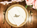 Set of 50 Wooden Name Place Settings for Wedding - Happyism, Inc. Engraving
