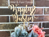 First Names Wedding Cake Topper - Happyism, Inc. Engraving