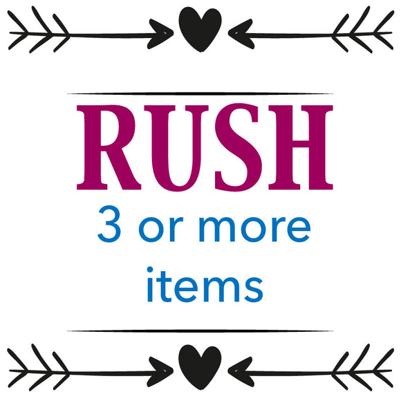 RUSH 3 or more item purchase. Will ship in 1-2 business days. - Happyism, Inc.