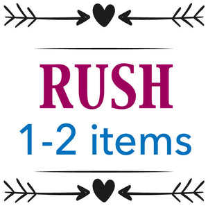 RUSH 1-2 Item(s) - Happyism, Inc. Engraving