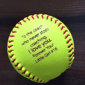 Custom Engraved Softball