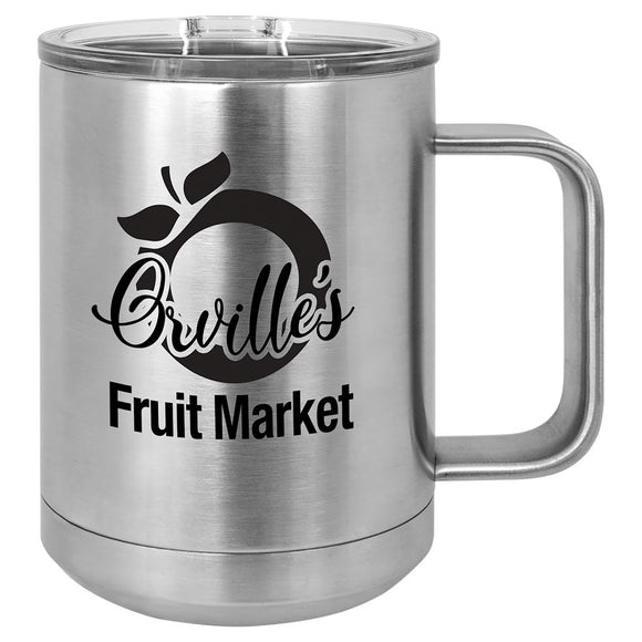 Custom Engraved Stainless Steel 15 oz Polar camel coffee mug - Stainless Steel - Happyism, Inc. Engraving