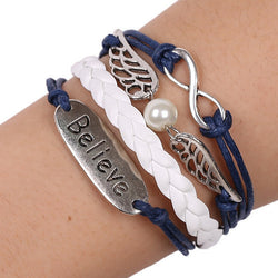 **FREE** Handmade Braided Leather Quidditch Infinity Bracelet - Mythical Market