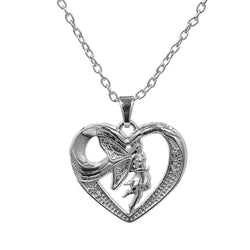 **FREE** Romantic Silver Fairy Heart Pendant - Mythical Market
