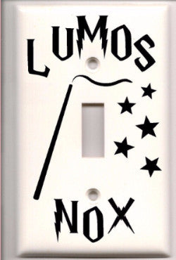 Harry Potter Lumos Nox Light Switch Vinyl Decal Cover - Mythical Market