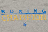 Boxing Champion Light weight thermal hoodie - Grey/Blue/Yellow