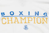Boxing Champion Light weight thermal hoodie - White/Blue/Yellow