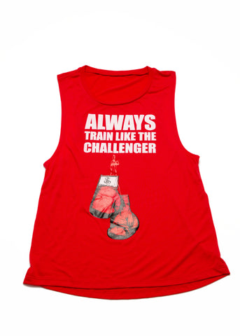 Always Train Like The Challenger Tank Top - Red