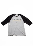 Boxing Champion Baseball Tee - Grey