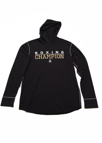 Boxing Champion Light weight thermal hoodie - Black