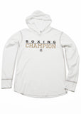 Boxing Champion Light weight thermal hoodie - White