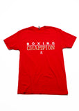 Boxing Champion T-Shirt - Red