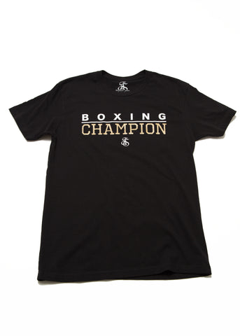 Boxing Champion T-Shirt - Black