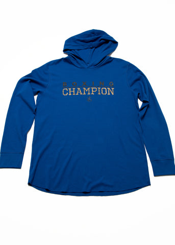 Boxing Champion Light weight thermal hoodie - Blue