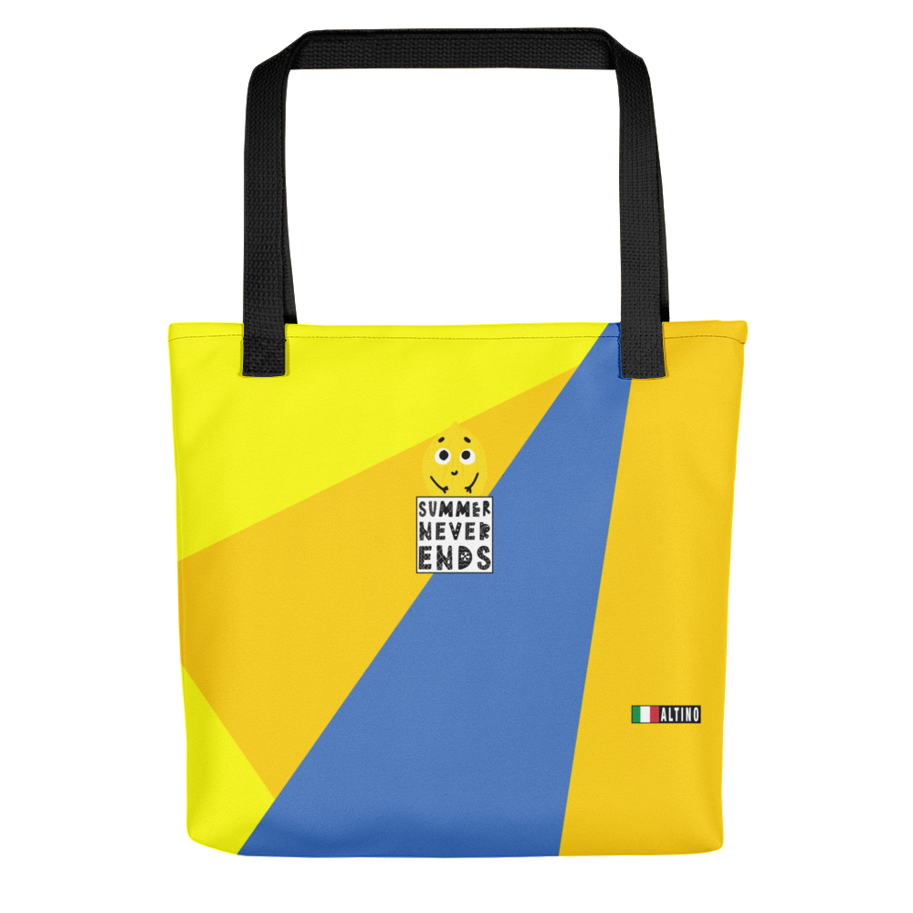 Yellow - #805dbaa0 - Blueberry Lemon Mango - ALTINO Tote Bag - Summer Never Ends Collection - Sports - Stop Plastic Packaging - #PlasticCops - Apparel - Accessories - Clothing For Girls - Women Handbags