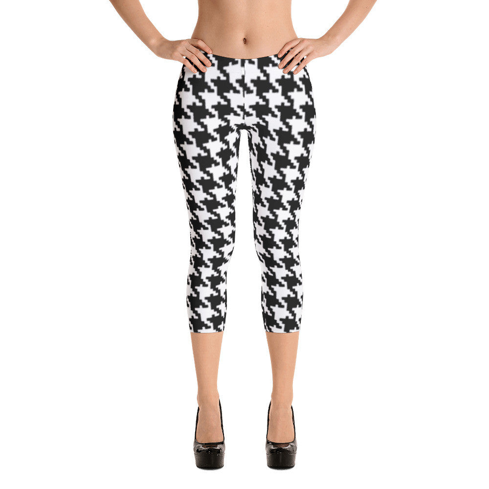HOUNDSTOOTH Capri Leggings