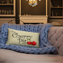 The Cherry Pit Custom Throw Pillows