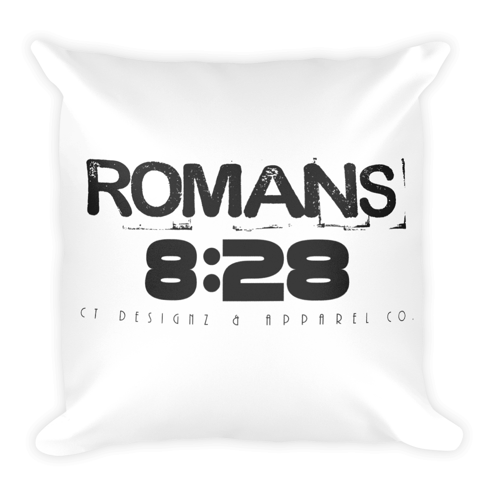 Romans 8:28 Square Pillow