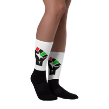 Fist Statement Black foot socks