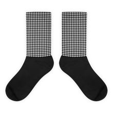 HOUNDSTOOTH Black foot socks