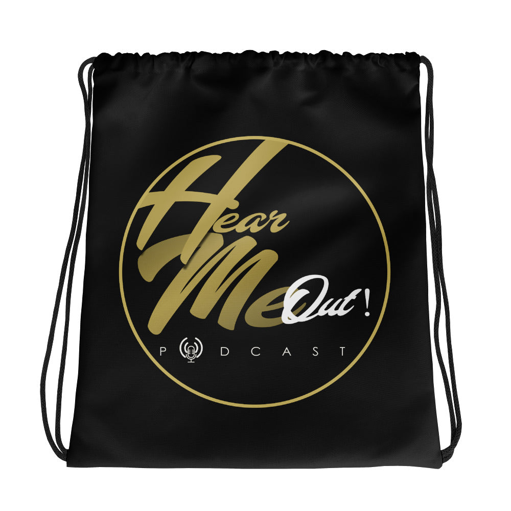 HEAR ME OUT PODCAST Drawstring bag