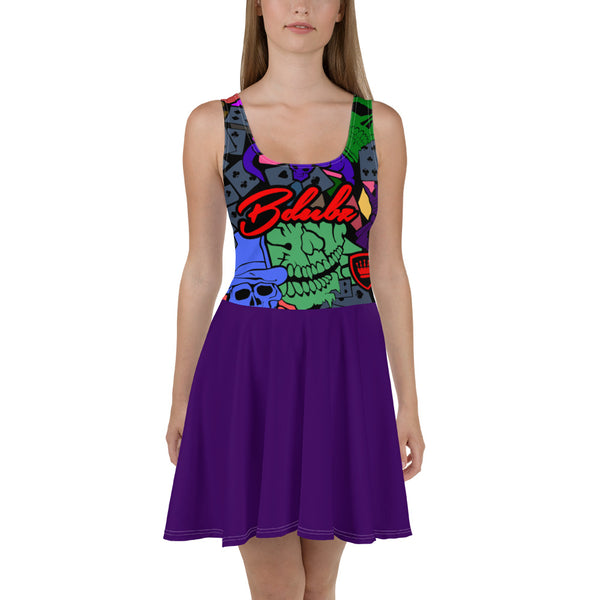 GAMBLERS SKATER DRESS PURPLE